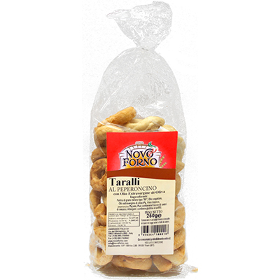 Taralli Pugliesi al Peperoncino 250 Gr.