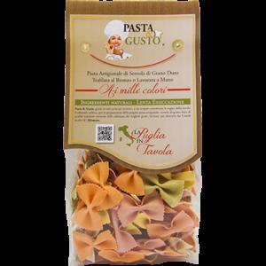 Pasta Aromatizzata o Colorata, formato Farfalline Arcobaleno 250 gr.