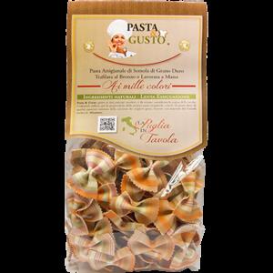 Pasta Aromatizzata o Colorata, formato Farfalline Fantasia 250 gr.