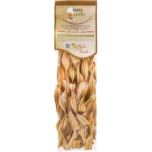 Pasta Aromatizzata o Colorata, formato Lingue di Suocera 250 gr.