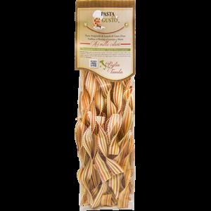 Pasta Aromatizzata o Colorata, formato Lingue di Suocera 500 gr.