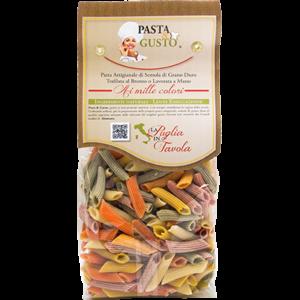 Pasta Aromatizzata o Colorata, formato Penne Rigate 500 gr.