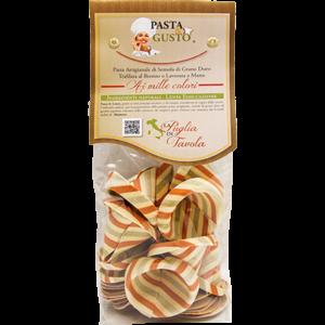Pasta Aromatizzata o Colorata, formato Sombreroni Italia 250 gr