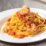 Spaghetti alla Chitarra con Gamberi e Pomodorini